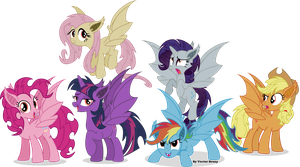 Bat mane six by Vector-Brony
