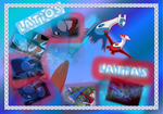Latios and Latias Poster by QuilavaFlame22