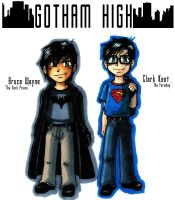 Gotham High The Best Friends by ellensama