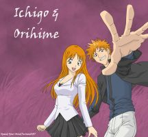 Ichigo And Orihime Vectored by Xpand-Your-Mind
