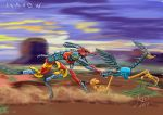 Road runner JET x Willy Cyber Coyote by ikarow