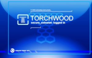 Torchwood Login Blue by falconfliesalone
