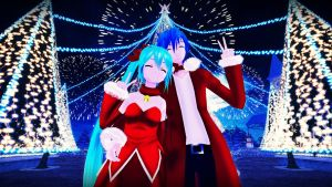 [MMD] Christmas Couple (requested) by Snorlaxin