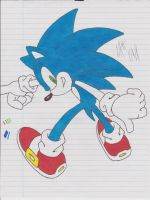 Sonic The Hedgehog by ColinNikka