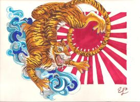 Tiger of the Rising Sun by SuckeyMeMiracle