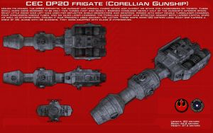 DP-20 Frigate [Corellian Gunship] ortho [New] by unusualsuspex