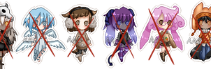 Smol Chibis Batch 2 :closed: by Deadly-Deviant