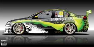 Monster DC Shoes V8 Supercar by hanmer