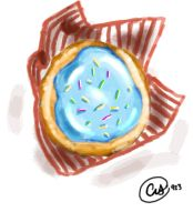 Blue-Frosted Cookie by CatsinSummer