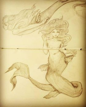 Mermay sketch  by LaurenRutledge