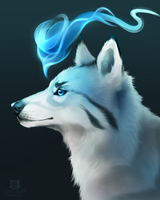 Evanescent Blue + SPEEDPAINT! by Capukat