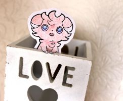 Espurr paperchild by MeowNi
