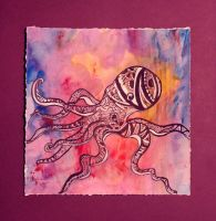 Purple Octopus by Thecarpetwhale