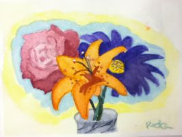 Flowers (water colored) by Redax3