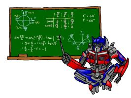 Optimus teach mathematics by darklordpop