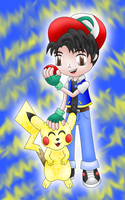 Ash and Pikachu by MikariStar