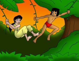 Mowgli and Melody by streetgals9000