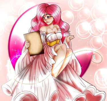 My pink moonlight  letter by InFamousNevaeh