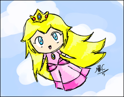Mario - Floaty Princess Peach by MariettaRC
