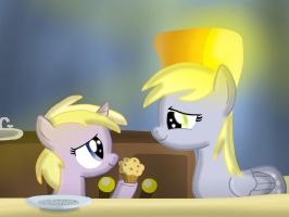Daughter of Discord: Sharing a Muffin by Skyfaller3D