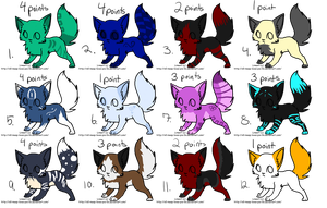 adoptables 4  1-4 points each by revolpup