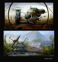 Scifi / Environment Thumbnails 2 by sketchypages