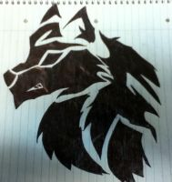 Tribal Wolf Tattoo idea by Draconian12