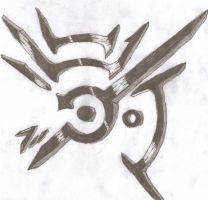 my own version drawing of the dishonored symbol by legomaniac525