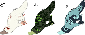 Platypus Adoptables Set [CLOSED] by Squidoptables