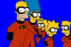 the simpsons x incredibles by tigertaiga