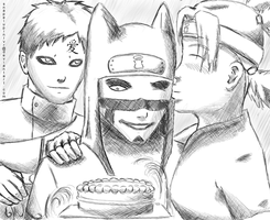 Kankuro's Birthday by snapelupinlvr