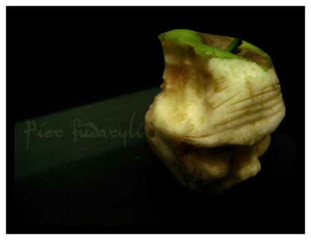 beneath magritte's apple skin by fudaryli