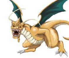 Dragonite Monsterized by tRickityhouses