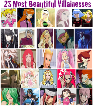 25 Most Beautiful Villainesses by DogPoundMan
