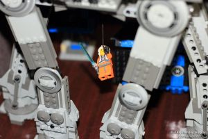 Lego Luke at AT-AT 2 by V-kony
