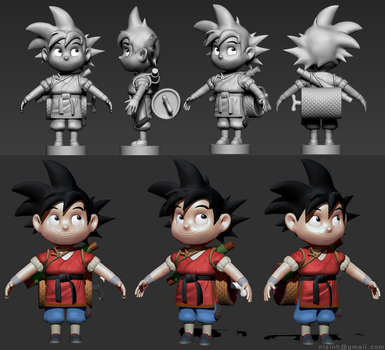 Young Goku (Zbrush 4R7) by nlsinh