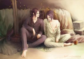 Itachi and Sasuke :  Morning by KarlaFrazetty