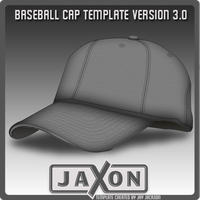 Baseball Cap Template UPDATE by JayJaxon