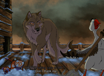 Balto Anime by EmberWolfsArt