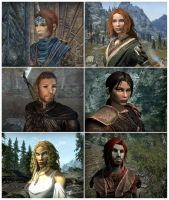 My TES Characters by Isriana