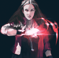 Scarlet Witch by roguesleipnir