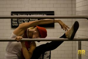NY Subway Dancer by ArigatoCapoeira