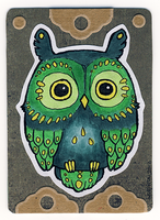 ATC Green Owl 02 by Myrntai