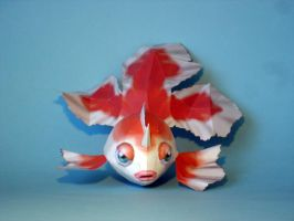 Goldeen Papercraft by Skele-kitty