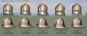 Germanic Non-Visored Sallets (late 15th Century) by RobbieMcSweeney
