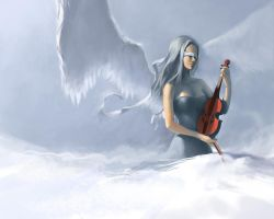 Violin Angel by jcevil