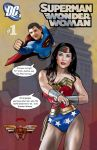Superman and Wonder Woman by Dan-DeMille