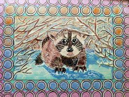 Baby raccoon by Lou-in-Canada