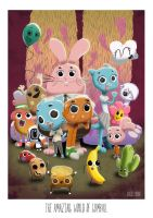 The amazing world of Gumball by D3iv