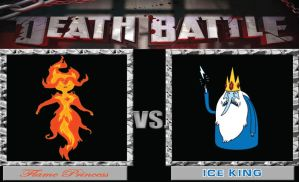 Ice King vs. Flame Princess by BenjaminHopkins